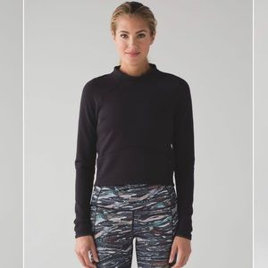 Lululemon Hill And Valley Mock Neck Pullover Sz 6